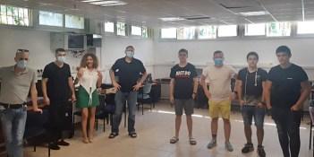 צוות נוקיה ישראל יחד עם תלמידי יוענה ז'בוטינסקי