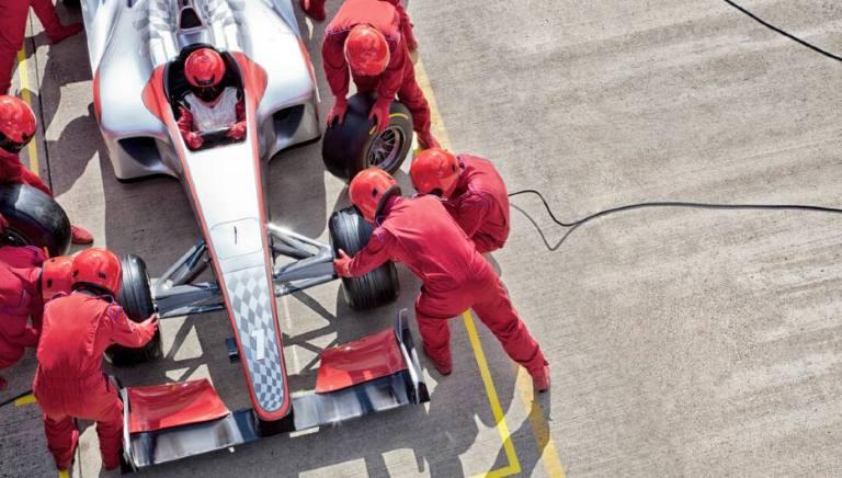 race car crew